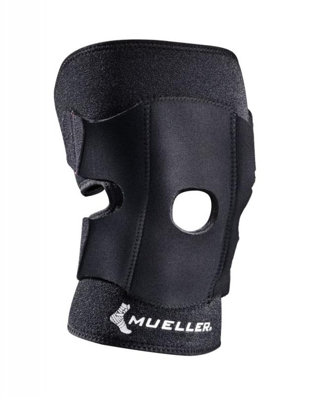 Mueller - Mueller Adjustable Knee Support Zwart - One Size