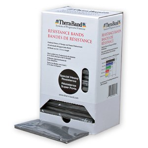 Thera-Band - Oefenband Thera-band Dispenser 30 x 1,50m zwart