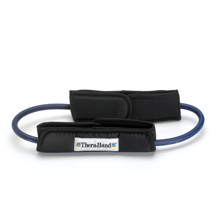 Thera-Band - Thera-band Loops met gepolsterde enkelband,blauw 30cm
