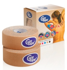 Cure tape - Kinesiotape: Cure Tape, beige, 2,5cm x 5m, p--1
