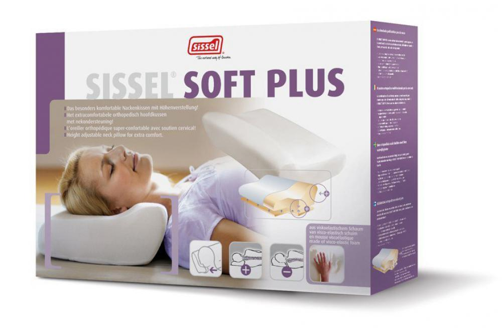 ALLproducts Sissel - Orthopedic pillow soft plus + overtrek