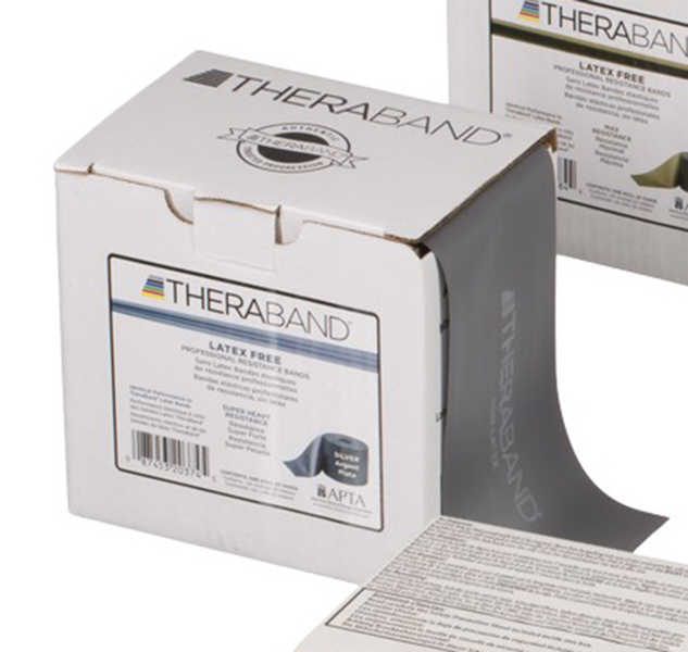 Thera-Band - Oefenband Theraband, latexvrij, 22m, zilver