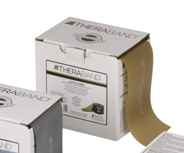 Thera-Band - Oefenband Thera-band, latexvrij, 22m, goud