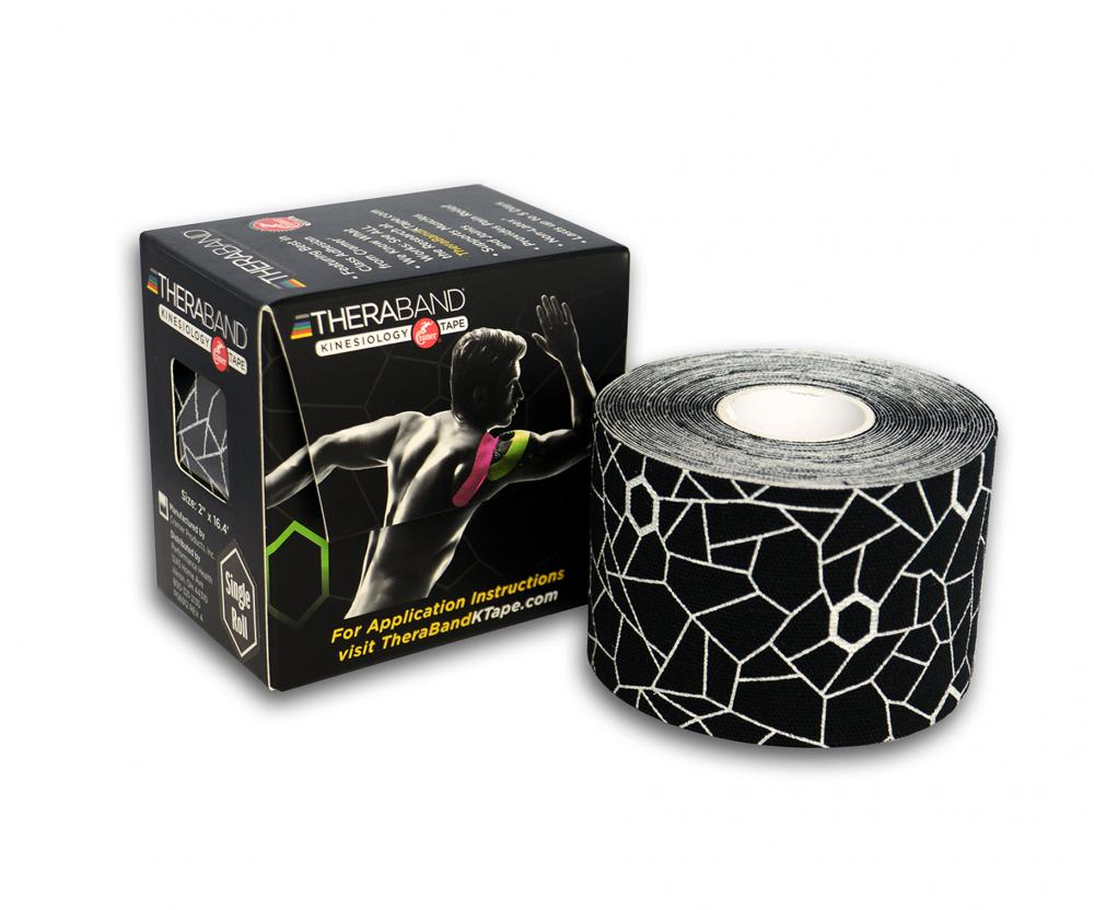 ALLproducts Kinesiology cramer tape 5cm x 5m retail P--24 zwart--wit