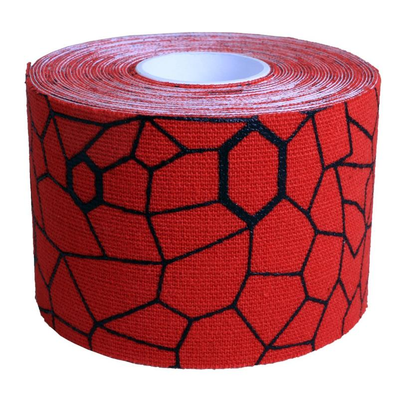ALLproducts Kinesiology cramer tape 5cm x 5m retail P--24 rood--zwart