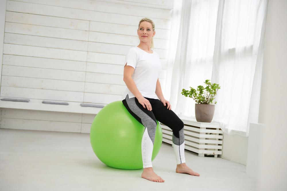 Sissel - Securemax exercise ball - zitbal - 55cm  - limoengroen