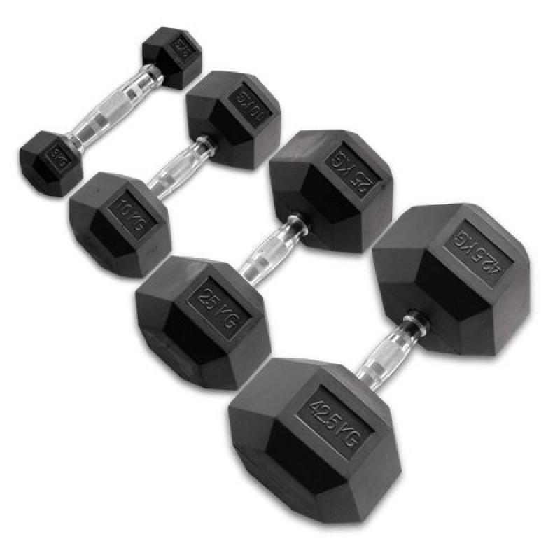 - Body Solid Hexagon Rubber Dumbbell – 25 kg – p--paar
