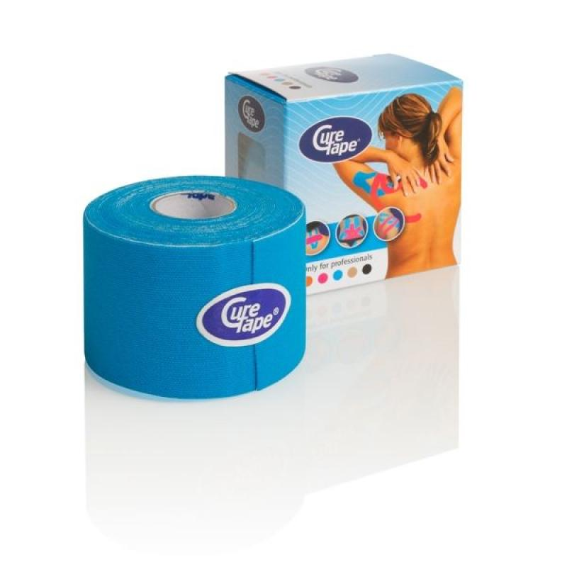 Cure tape - Kinesiotape: Cure Tape, blauw, 5 cm x 5m p--1